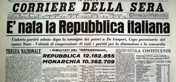 Il referendum istituzionale del 2 giugno 1946